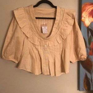 NWT Free People Sylvia Blouse